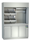 Display cases for meat - With mirrors and inclined supports, meat hooks or mixed - FKV-FS 110 U