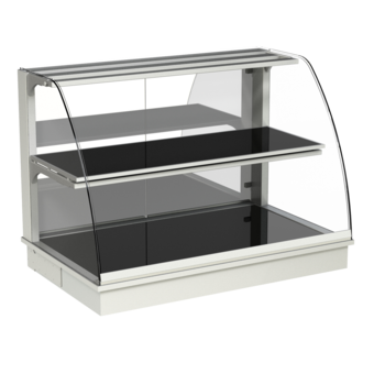 Built-in heated display cases - Closed or with removal flaps - W GR-80-70*)