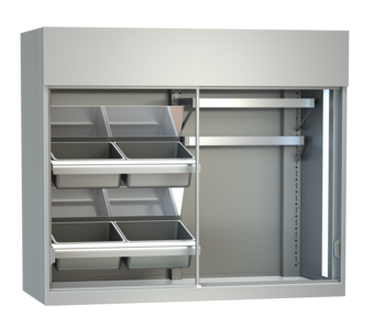 Display cases for meat - With mirrors and inclined supports, meat hooks or mixed - FKV-FS 198 KR