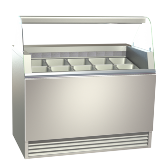 Ice cream display cases - Ice cream display cases, floor mounted - EIS-PVE 80