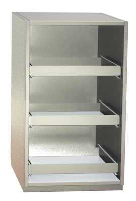 Non-refrigerated cabinets - Glass rack cabinets - GKS 60-3