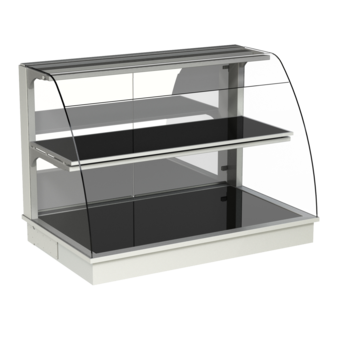 Built-in heated display cases - Closed or with removal flaps - W KOR-80-70 PRO*)