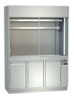 Display cases for meat - With mirrors and inclined supports, meat hooks or mixed - FKV-F 110 U
