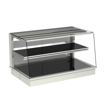Built-in heated display cases - Closed or with removal flaps - W KOS-145-53 PRO