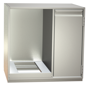 Non-refrigerated cabinets - Built-in cabinets for glass washer - GS 65-H R