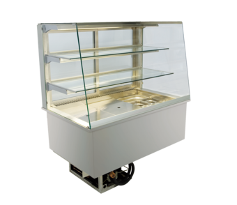 Built-in refrigerated display cases - Gastronorm - Gastro GS-80-70-E*)