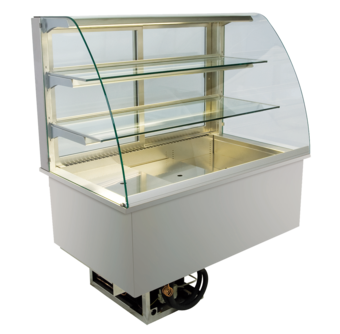Built-in refrigerated display cases - Gastronorm - Gastro GR-80-70-E*)