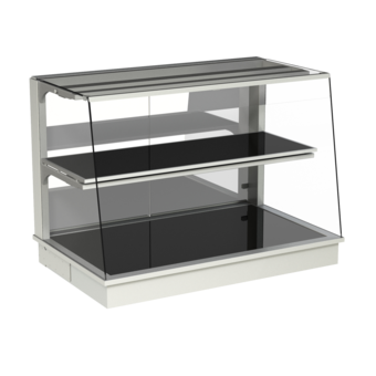 Built-in heated display cases - Closed or with removal flaps - W KOS-145-70 PRO
