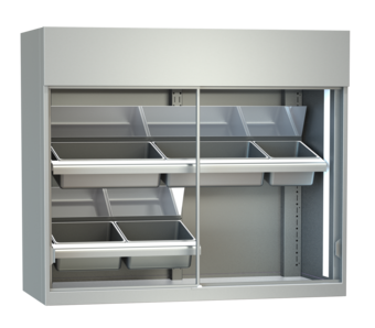 Display cases for meat - With mirrors and inclined supports, meat hooks or mixed - FKV-S 150