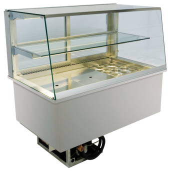 Built-in refrigerated display cases - Gastronorm - Gastro GS-80-53-E*)