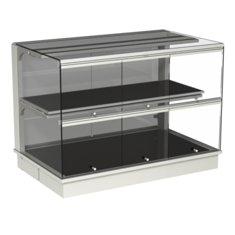Built-in heated display cases - Closed or with removal flaps - W GE-80-70 KL*)