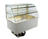 IDEAL AKE - Built-in refrigerated display cases with flaps